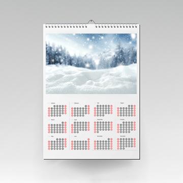 Kalendarz wiszący 1-stronny