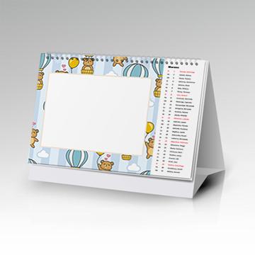 Kalendarz stojący 12-stronny poziomy