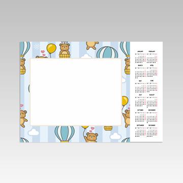 Kalendarz wiszący 1-stronny poziomy