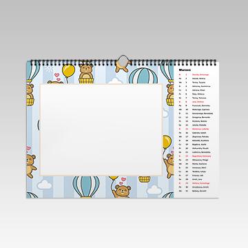 Kalendarz wiszący 12-stronny poziomy